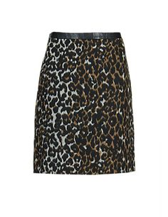 PETITE Brushed Animal Print Mini A-Line Skirt with New Wool | M&S