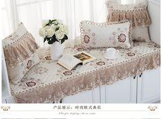 Continental окна роскошного залива подушки ткань подушки скольжения Continental бежевого кружева сатин дивана подушку коврик окна и на заказ - глобальная станция Taobao