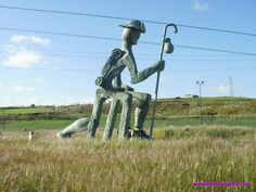 Pilgrim's Statue seen on our 2013 bici-#camino on route from Burgos to Broadilla