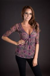 Sweet Pea by Stacy Frati 3/4 Cinch Chest Top - 2hotbrazil.com