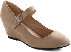 Every Walking Moment Wedge in Khaki on shopstyle.com