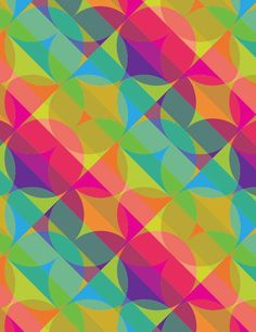 An original abstract pattern in bright colors by  designer Linda Webb. See more on Coroflot.
