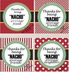 Neighbor Christmas Gifts, Personalized Christmas Gifts, Neighbor Gifts, Christmas Words, Christmas Holidays, Christmas Ideas, Merry Christmas, Printable Tags, Printables