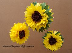 Tissue Paper Pom Pom / Sunflowers   Perfect Decorations for