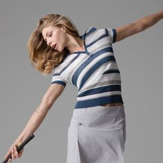 Our Short sleeve stripe Polo in full swing  Shop now at Letoilesport.com #playallday #letoilesport