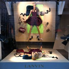 It is a mirror! LANVIN mirror on the beach window display #retaildetails