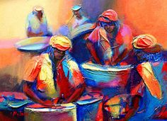 Trinidad Painting - Colour Pan by Cynthia McLean