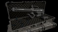 ArtStation - Sci-fi High Caliber Rifle, Axel Kraefft