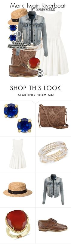 """""""Mark Twain Riverboat"""" by leslieakay ❤ liked on Polyvore featuring Kate Spade, T-shirt & Jeans, Marc by Marc Jacobs, Anne Klein, Fallenbrokenstreet, LE3NO, Ice, Tricker's, women's clothing and women's fashion"""