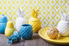 These ceramic pineapple jars are the latest trend in home decor and homewares - bold colours and great shapes make these pineapples a must-have!