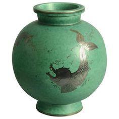 Argenta Vase by Wilhelm Kage for Gustavsberg, Sweden