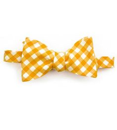 Goldenrod Gingham Bow Tie by Fox & Brie on Scoutmob Shoppe