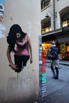 The latest volume of amazing wall murals, graffiti art & street art from all over the world // See more from many urban artists on Mr Pilgrim online 3d Street Art, Amazing Street Art, Street Art Graffiti, Street Artists, Amazing Art, Awesome, Graffiti Girl, Banksy, Land Art