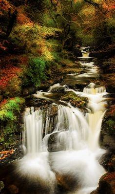 Cascada de #Torc en killarney, #Irlanda.
