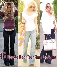 Because I just can't do the skinny-jean-thing: 15 Ways to Wear Your Flare Leg Jeans