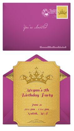 There's no easier way to send birthday invites than with Punchbowl. Online invitations, no matter what your theme, no matter how big your guest list. Never lick another envelope again. http://www.punchbowl.com/disney/express/?utm_source=Pinterest&utm_medium=1.11P