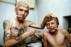 Heroin addict father and his twelve year old son.