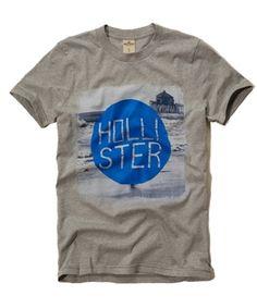CAmisetas originais da Hollister no Brasil a partir de R$80!  Camiseta Hollister Masculina LAGUNA NIGUEL - Cinza - Figo Verde - Roupas importadas originais.
