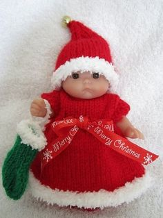 Knitting Pattern for 5 inch Berenguer Itty Bitty Baby by WeGirls ~ I'm ready, are you?