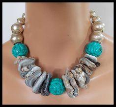TANGIER Druzy Agate Handcarved Natural por sandrawebsterjewelry