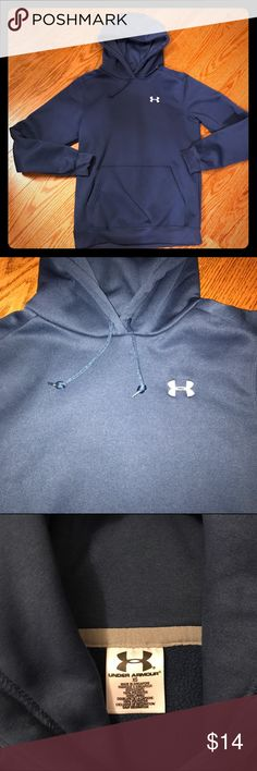 Under Armour Blue Hoodie - XS Under Armour Blue Hoodie. Size XS. Excellent condition. Bundle for savings! Under Armour Tops Sweatshirts & Hoodies