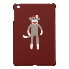 Red Girl Sock Monkey iPad Mini Case #zazzle #ipadmini