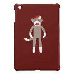 Red Girl Sock Monkey iPad Mini Case #zazzle #ipadmini