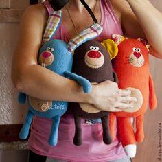 Купить Рыжий котик - рыжий, игрушка из флиса, игрушка для малыша, игрушка ручной работы