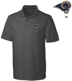 Cutter  amp  Buck Men s Los Angeles Rams 3D Emblem Fairwood Polo Shirt Shirt  Men 6e0d90281