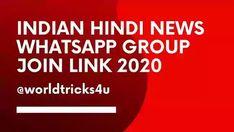 Indian Hindi News Whatsapp Group Join Link 2020 Indian Hindi, Whatsapp Group, Join, Tech News