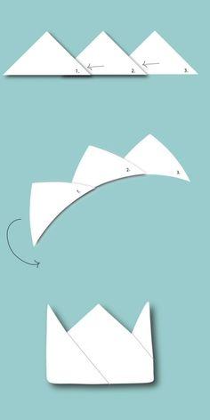 Bastelvorlage Origami Osterhasen Korb - Schritt 2