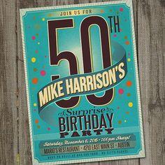 Adult Birthday Invitation PRINTABLE Surprise 21st 18th 50th Male