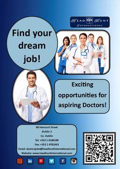 #Job #hiring #doctor #nursing #medical #healthcare #opportunity #career #hospital Dream Job, Dublin, Nursing, Dreaming Of You, Opportunity, Health Care, Finding Yourself, Career, Medical