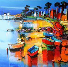 The Rocky Coast Brittany - Eric Lepape Paintings I Love, Love Painting, Modern Art, Contemporary Art, Acrylic Painting Techniques, Water Art, Coastal Art, Tree Art, Sculpture Art