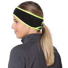 Hat Knitted Headband Ear Warmer Open Winter Hairband Black Green Biker Sports