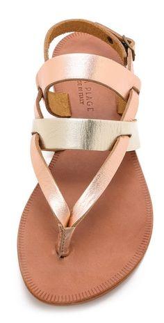 Joie A La Plage Positano Metallic Flat Sandals | SHOPBOP