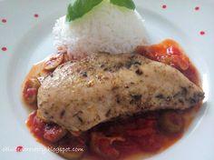 Obľúbené recepty: Kuracie prsíčka s olivovo-rajčinovou omáčkou