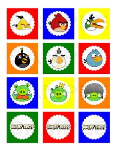 Angry Birds Inspired Printable Cupcake Picks by jenniferwhitaker, $5.00