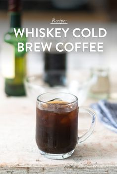 Spiced Cold Brew & Whiskey: In a coffee press mix peel from half an orange, ½ teaspoon ground cardamom, ¼ teaspoon ground cloves, and 2 ½ cups coffee, ground for coffee press (we recommend Guatemala Antigua). Add 3 ½ cups cold purified water. Set the lid on top without pressing the plunger. Let mixture sit at room temperature for 18-24 hours. Press coffee, pour ½ cup into a glass with ice, 2 tablespoon simple syrup, 2 tablespoon Irish whiskey.