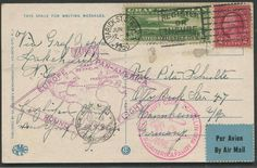 United States 1930 SAF USA post return flight to Mannheim, picture postcards Atlantic city with 65 C. Zeppelin, superb  Lot condition   Dealer Darmstädter...