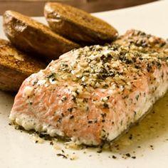 Baked Salmon with Basil and Garlic Allrecipes.com
