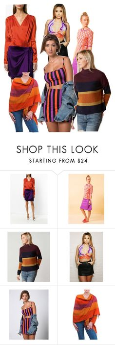 """""""Split Complementary (Purple & Orange)"""" by britty676 on Polyvore featuring Attico, BKE and NOVICA"""