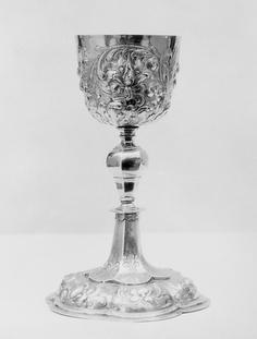 Chalice,by Georg Reishl  German-Augsburg  1675-1700  Silver gilt