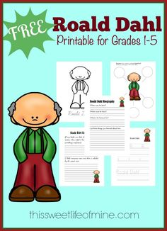 Roald Dahl Unit and Free Printable {Ntl Poetry Month}