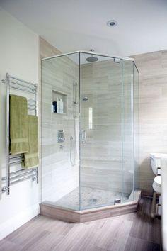100 современных идей дизайна: душевые кабины в ванной на фото