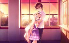 Anime Love Scenes HD Widescree Desktop Wallpaper