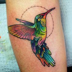 Hummingbird tattoo by Katie Shocrylas Tiny Bird Tattoos, Dream Tattoos, Mom Tattoos, Body Art Tattoos, Tribal Tattoos, Sleeve Tattoos, Tattos, Colorful Hummingbird Tattoo, Hummingbird Colors