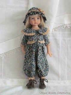 13-Effner-Little-Darling-BJD-Green-vines-rompers-set-handmade-set-by-JEC. Ends 10/19/14. SOLD for $62.00.