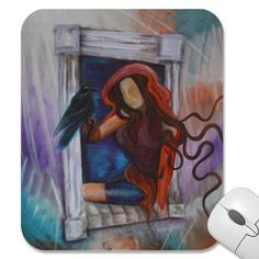 Raven's Wish Mousepad from Zazzle.com