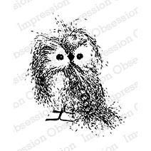 Ellen Hutson LLC - Impression Obsession Cling Stamps, Feathery Owl Small by Alesa Baker, $6.20 (https://www.ellenhutson.com/impression-obsession-cling-stamps-feathery-owl-small-by-alesa-baker/)